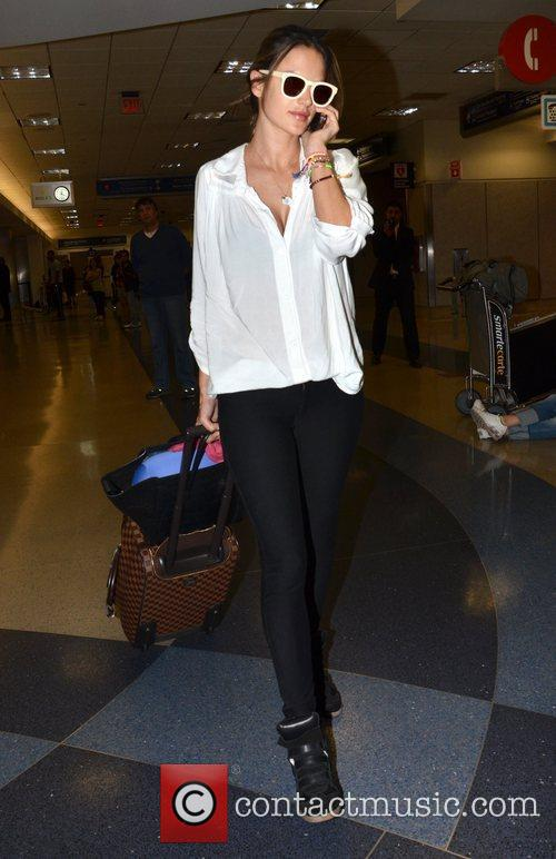 alessandra ambrosio arrives at lax airport los 3945335