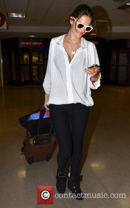 alessandra ambrosio arrives at lax airport los 3945338