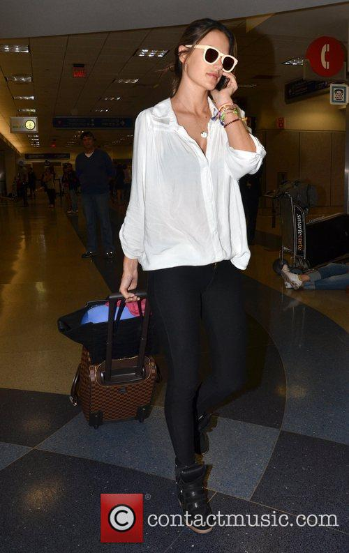 alessandra ambrosio arrives at lax airport los 3945340