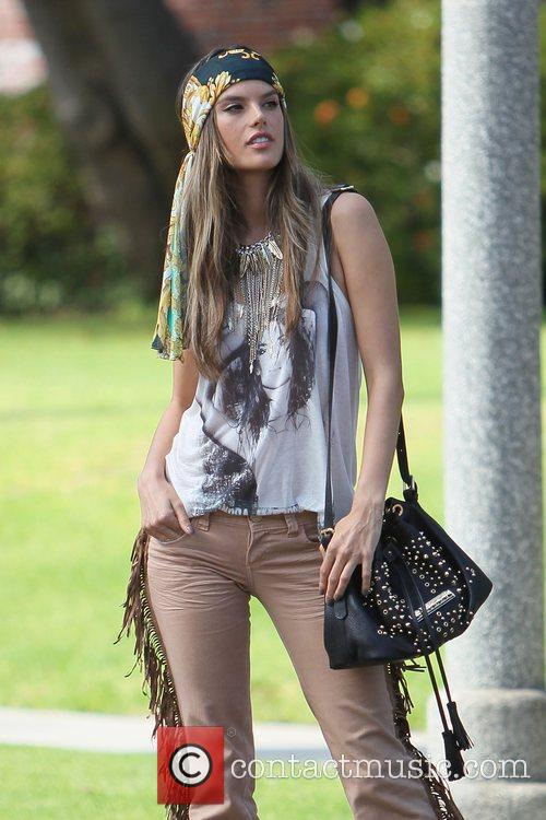 alessandra ambrosio modelling the hippy look wearing 3950456
