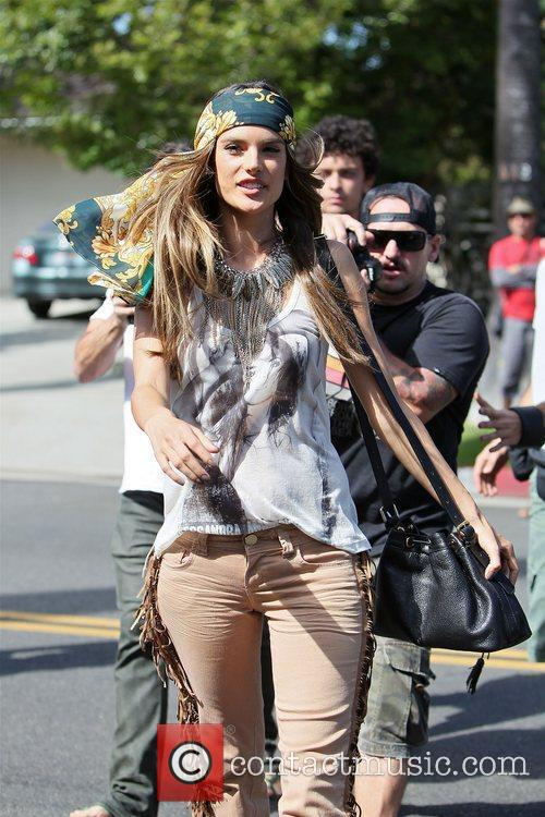 alessandra ambrosio modelling the hippy look wearing 3950486