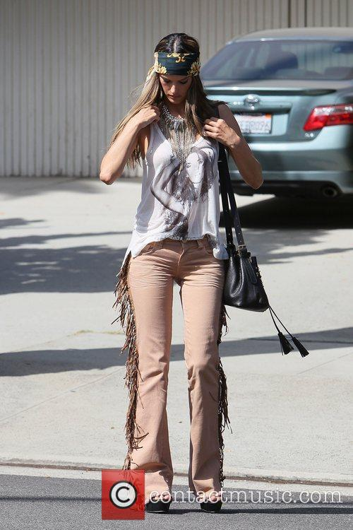 alessandra ambrosio modelling the hippy look wearing 3950489