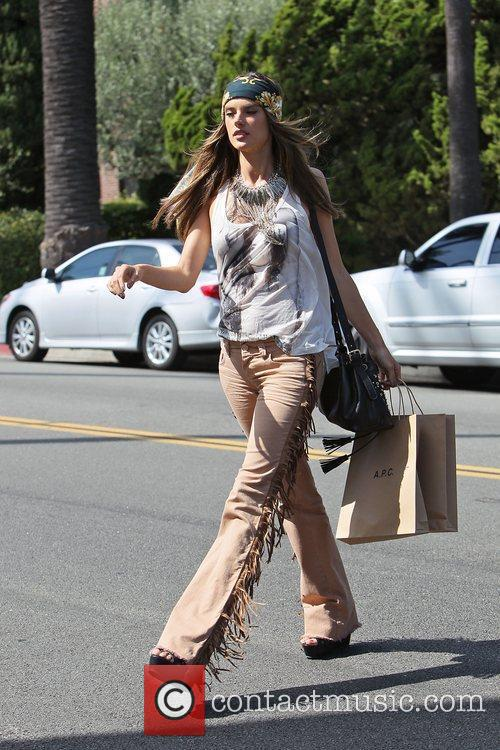 alessandra ambrosio modelling the hippy look wearing 3950490