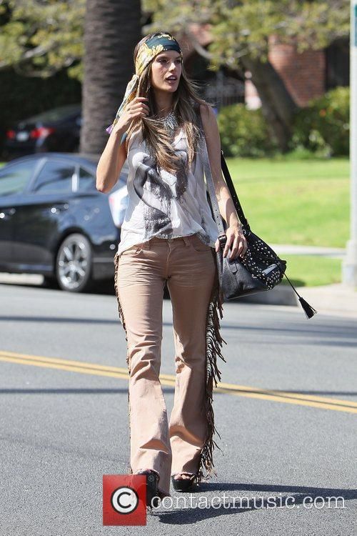 alessandra ambrosio modelling the hippy look wearing 3950495