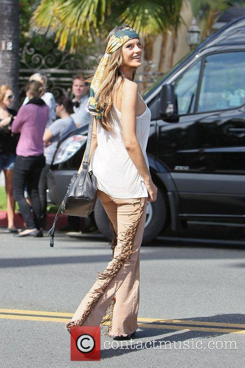 alessandra ambrosio modelling the hippy look wearing 3950500
