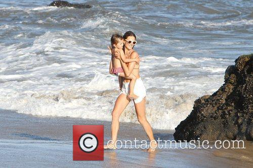 Alessandra Ambrosio and her daughter Anja make their...