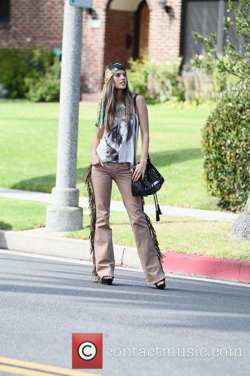 alessandra ambrosio modelling the hippy look wearing 3950513