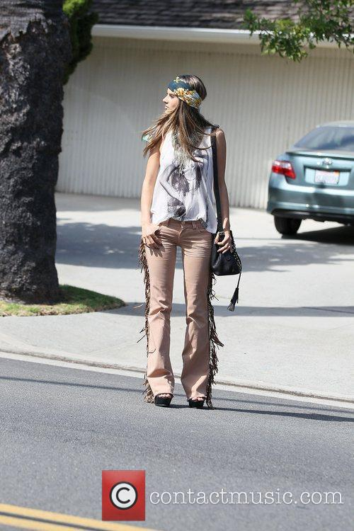 alessandra ambrosio modelling the hippy look wearing 3950517