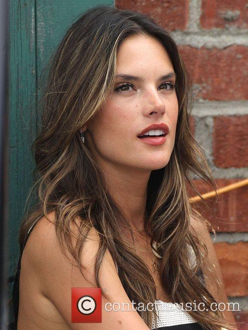 Alessandra Ambrosio having lunch at the Ivy Los...