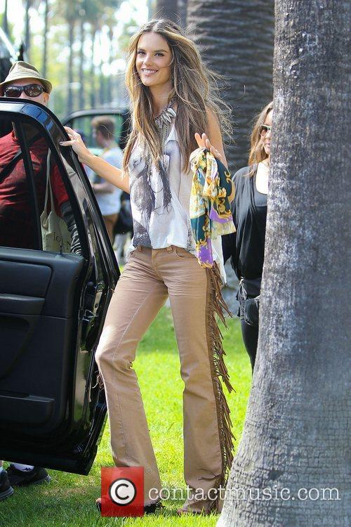 alessandra ambrosio modelling the hippy look wearing 3950525