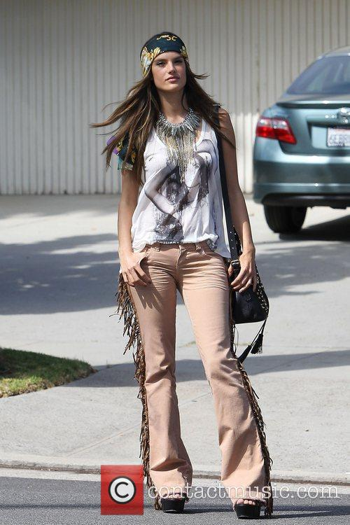 alessandra ambrosio modelling the hippy look wearing 3950527