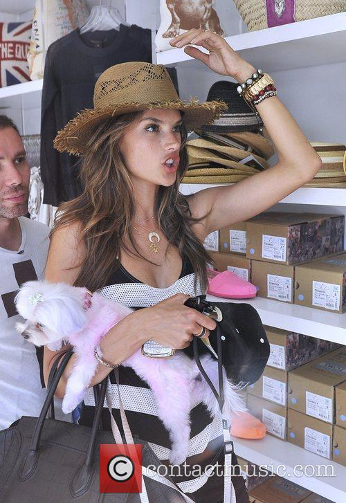 alessandra ambrosio shopping at kitson in west 3997989