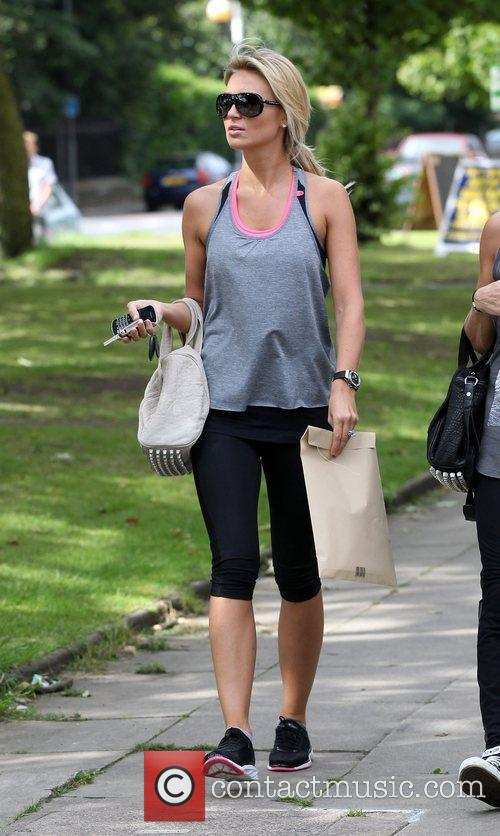 Out and about wearing her gym clothes after...