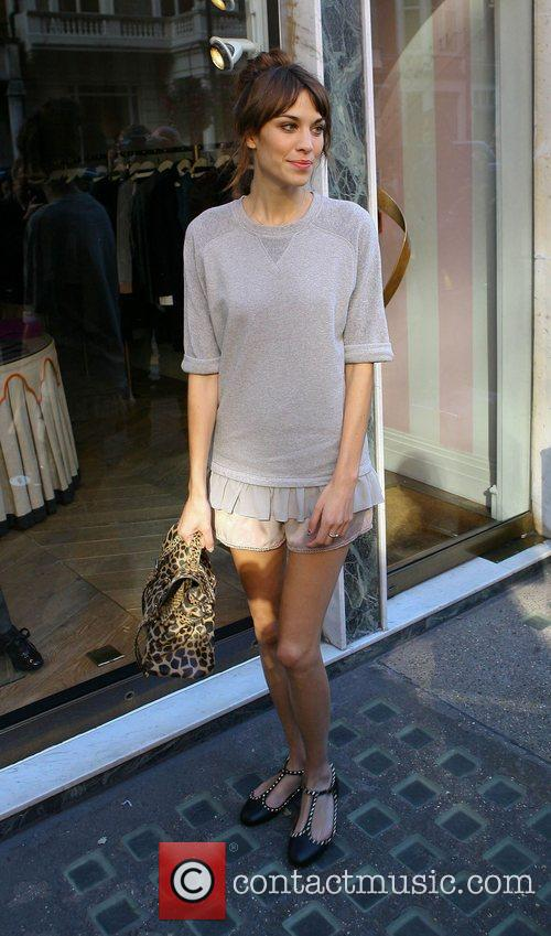 Alexa Chung outside Claridge's Hotel during London Fashion...