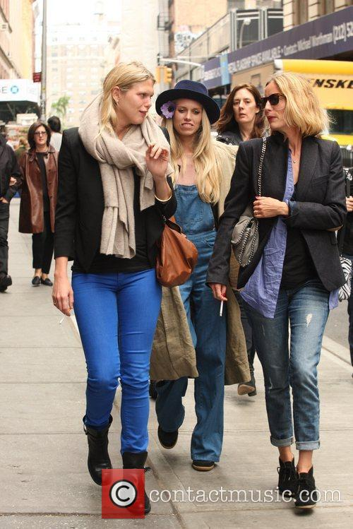 Are seen out and about in Manhattan.