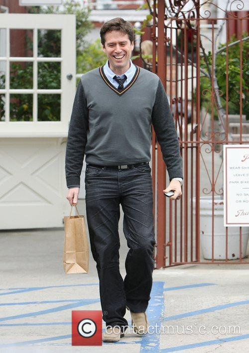 Alexis Denisof out christmas shopping in Brentwood. Los...