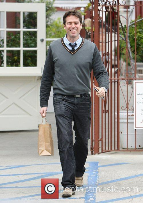 Alexis Denisof out christmas shopping in Brentwood.