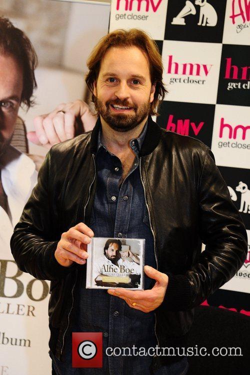Tenor Alfie Boe  signs copies of his...