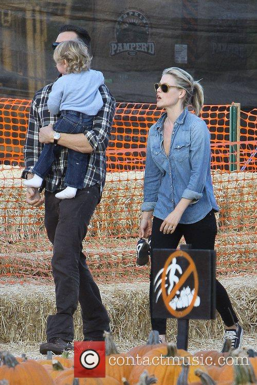 Actress Ali Larter  seen with her husband...