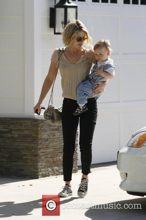 Ali Larter and her son Theodore MacArthur...