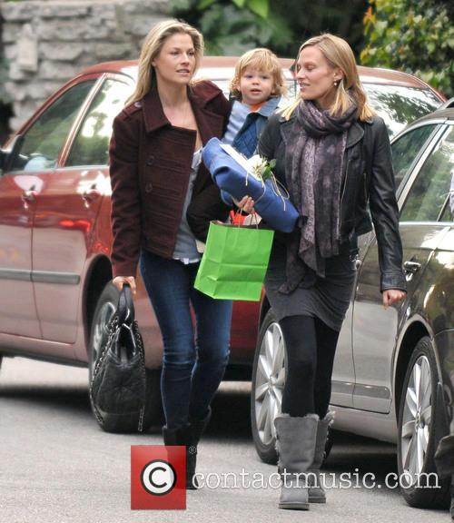 Ali Larter takes her young son to the...