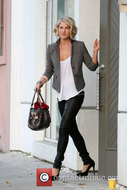 Ali Larter leaving the Byron & Tracey salon...