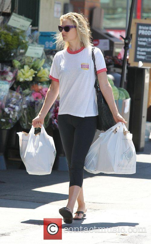 Ali Larter leaving Whole Foods supermarket after shopping...