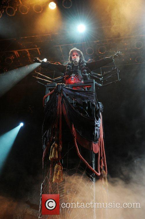 Alice Cooper performs live during the final night...