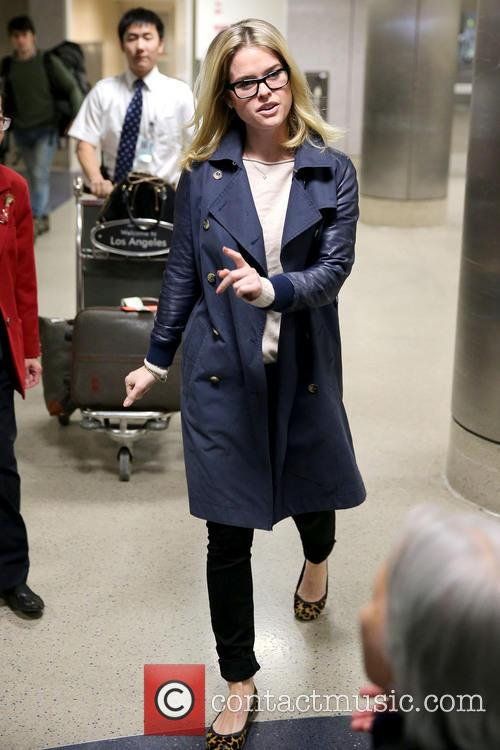 Actress Alice Eve arrives at LAX airport