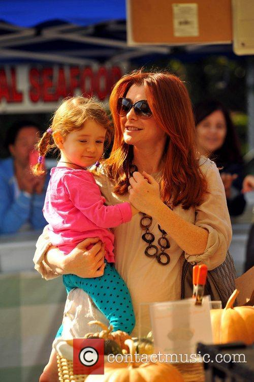 Pregnant Alyson Hannigan and her daughter Satanya Denisof...
