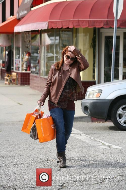 Alyson Hannigan out shopping