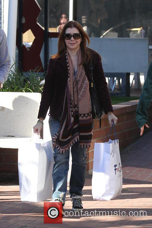 Alyson Hannigan shopping at Fred Segal's in Santa...