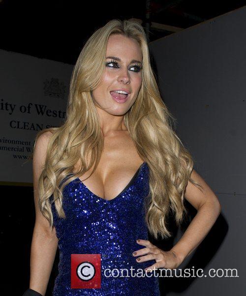 Amanda Harrington from E4's 'Desperate Scousewives' wears an...