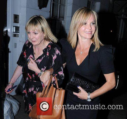 Leaves Little House Restaurant in Mayfair with her...