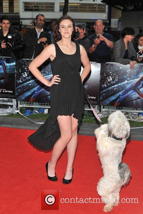 Ashleigh Butler and Pudsey The Amazing Spider-Man Gala...