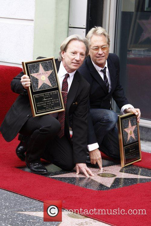 The group America is honored with a Star...