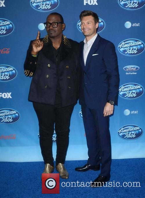 Ryan Seacrest and Randy Jackson 5