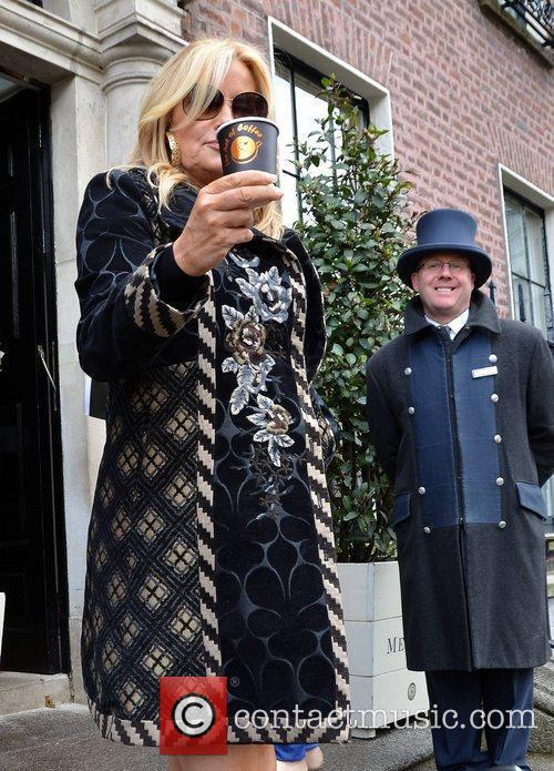 Jennifer Coolidge outside her hotel Dublin, Ireland