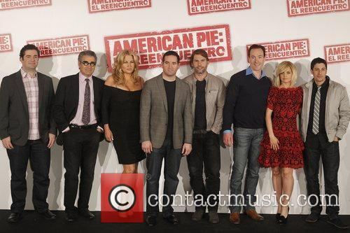 Jon Hurwitz, Chris Klein, Eugene Levy, Hayden Schlossberg, Jason Biggs, Jennifer Coolidge, Mena Suvari and Seann William Scott