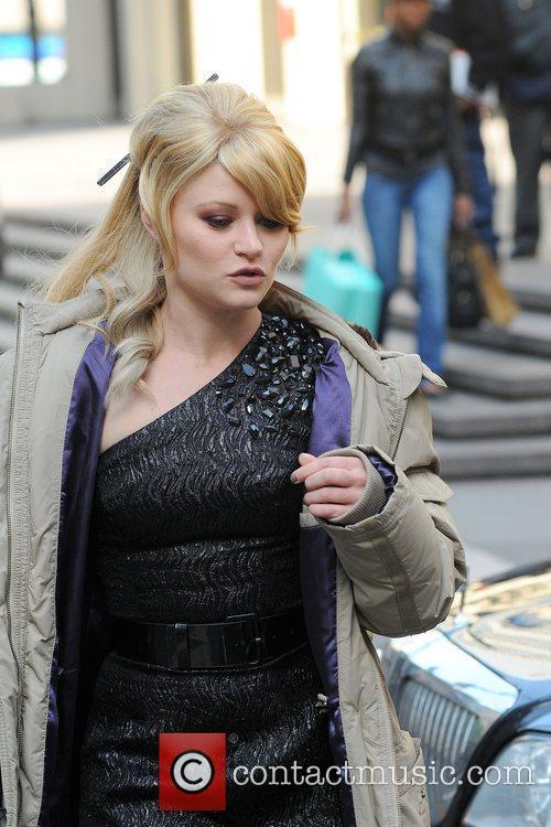 Emilie de Ravin arrives on the set of...