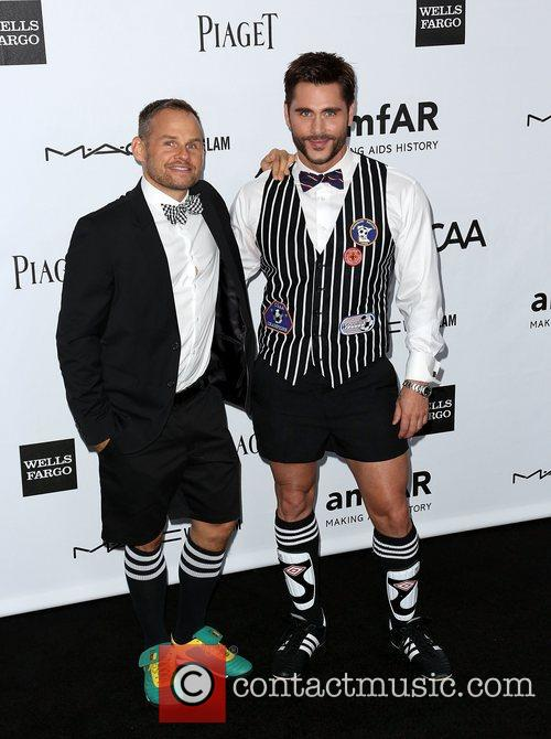 A guest and Jack Mackenroth amfAR 3rd Annual...
