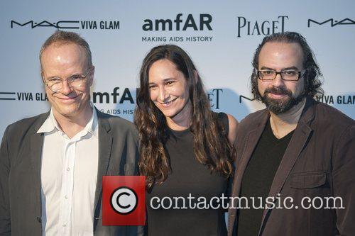 Hans Ulrich Obrist, Bettina Korek and Ari Benjamin...