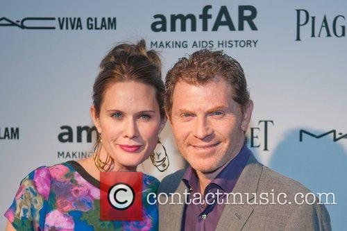 Stephanie March and Bobby Flay amfAR inaugural benefit...