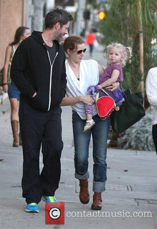 Amy Adams with fiance Darren Le Gallo and...