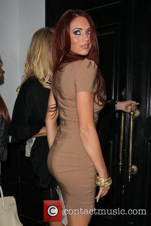 Amy Childs arrives at Beso restaurant, which is...