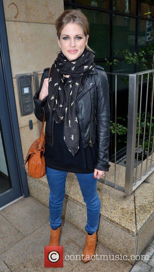 Amy Huberman outside the Today FM studios ahead...