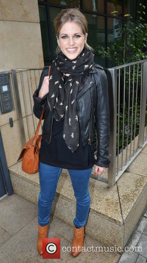 Outside the Today FM studios ahead of her...