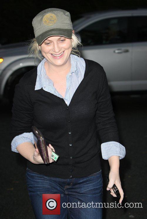 Amy Poehler leaving Bristol Farms after shopping for...