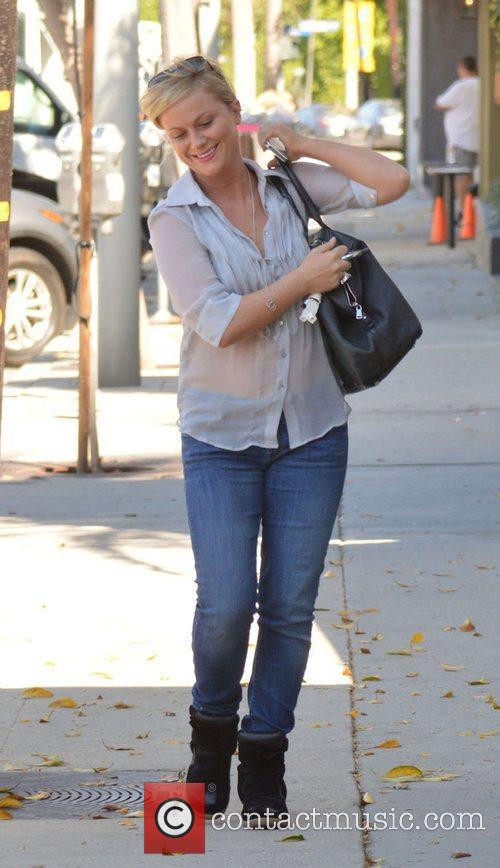 Amy Poehler leaving a hair salon in West...