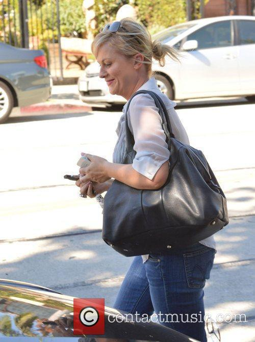 Leaving a hair salon in West Hollywood